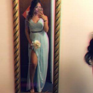 David's Bridal mint brides maids dress